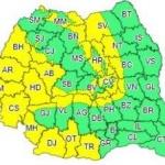 Cod galben. Intensificări ale vântului şi instabilitate atmosferică, în județul Arad