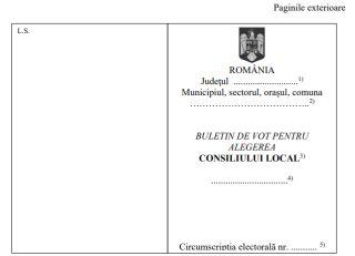 Dezbatere publică privind modelele buletinelor de vot care vor fi folosite la alegerile locale