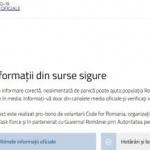 COVID-19 Ştiri Oficiale, platformă online cu informaţii din surse sigure