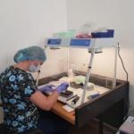 Aparat care ajută la testarea pacienților suspecți de coronavirus, la Spitalul Județean Arad