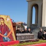 Procesiune cu sfinte moaște și icoane organizată pe străzile Aradului, în Duminica Floriilor