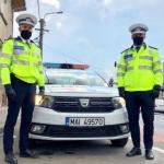 """""""Polițiști de onoare"""". Doi agenți din IPJ Arad au îndeplinit dorința unui copil de 6 ani"""