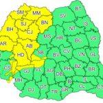 Cod galben de instabilitate atmosferică accentuată în județul Arad