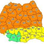 Avertizare meteo. Cod portocaliu de furtuni în județul Arad