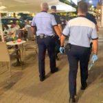 Terasele din Arad, controlate de polițiști