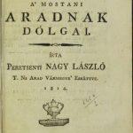 Prima monografie tipărită a Aradului, la Biblioteca Județeană