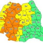 Cod galben de instabilitate atmosferică accentuată, în județul Arad