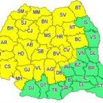 Cod galben de instabilitate atmosferică accentuată, pentru județul Arad