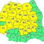 Cod galben de instabilitate atmosferică, în județul Arad
