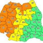 Avertizare meteo. Cod portocaliu de instabilitate atmosferică accentuată, în județul Arad
