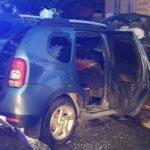 UPDATE Mașină incendiată pe o stradă din Vladimirescu. Autorul a fost reținut