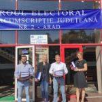 Au fost depuse candidaturile PRO România pentru Consiliul Județean Arad