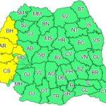 Atenționare meteo. Cod galben de instabilitate atmosferică, în județul Arad