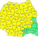 Atenționare meteo. Cod galben de ploi torenţiale, vijelii şi grindină în județul Arad
