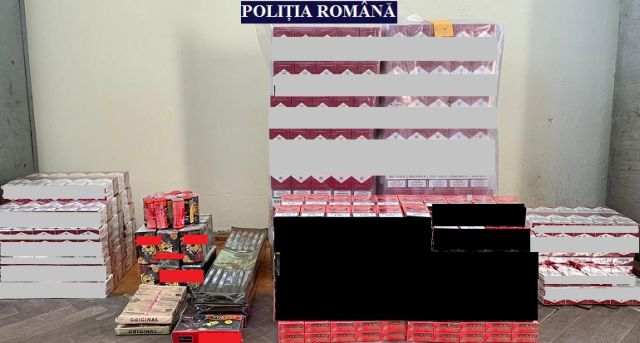 Percheziții în localitatea Vânători Au fost găsite țigări de contrabandă și materiale pirotehnice