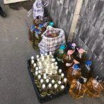 Jandarmii arădeni au confiscat peste 130 de litri de alcool