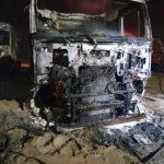 Trei camioane au ars într-o balastieră de la Șofronea