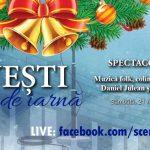 """""""Povești în prag de iarnă"""" – spectacol online cu Daniel Julean și Nicoleta Maria Brola"""