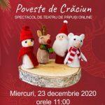 """Piesa de teatru de păpuși """"Poveste de Crăciun"""", online"""