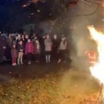 Sârbii din Arad au aprins badnjak-ul în Ajunul Crăciunului