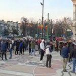 Protest în centrul Aradului faţă de noile restricţii