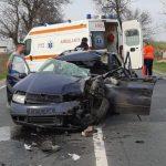 Accident între Arad și Zimandcuz. Două persoane au fost transportate la spital