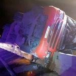 Un TIR s-a răsturnat pe autostradă. Șoferul a decedat
