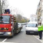Sute de amenzi pentru șoferii care au oprit/staționat neregulamentar, în municipiul Arad