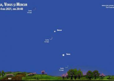 Planetele Venus, Marte şi Mercur, vizibile cu ochiul liber toată luna mai
