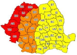 Avertizare meteo. Cod roşu de caniculă în județul Arad