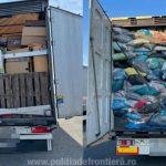 Opt automarfare cu deșeuri, oprite la PTF Nădlac II