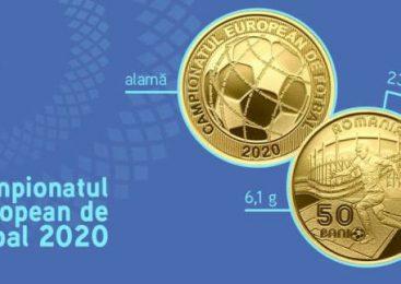 """BNR lansează o monedă din alamă cu tema """"Campionatul European de Fotbal 2020"""""""