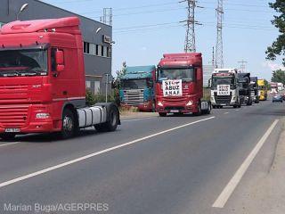 Centura Aradului, blocată în urma unui protest cu peste 300 de camioane