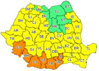Avertizare meteo. Cod galben de caniculă și disconfort termic în județul Arad