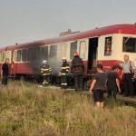 Incendiu la un tren de călători, în Halta Seleuș
