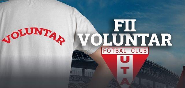 UTA Arad recrutează voluntari pentru activitățile din cadrul clubului