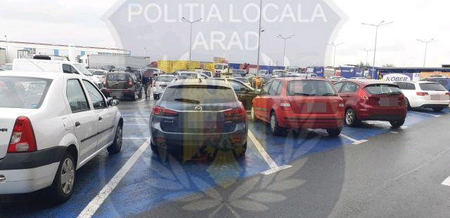 Șoferi amendați pentru că au parcat pe locurile destinate persoanelor cu dizabilități