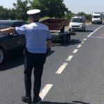 Acțiuni ale polițiștilor pe drumurile din Arad. Au fost date peste 400 de amenzi