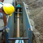 Lucrări la rețeaua de apă în intersecția Căii Radnei cu strada Renașterii, în municipiul Arad