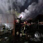 Incendiu la un atelier de vulcanizare din cartierul Micălaca