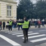 """""""Patrula școlară"""". Activitate educativ-preventivă pe linie rutieră, în Arad"""
